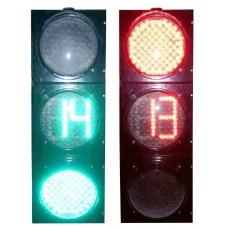 Светофор светодиодный транспортный Т.1.2 с секцией СТЖ-В-300RG(АПИ)