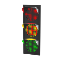 Светофор светодиодный Т.1.1 c ТООВ 220В (плоский корпус)