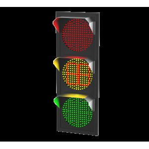 Светофор светодиодный Т.1.2 c ТООВ 220В (плоский корпус)