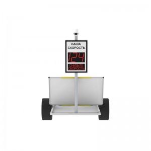 Автономное мобильное табло контроля скорости TSN-MТ с камерой фото фиксации