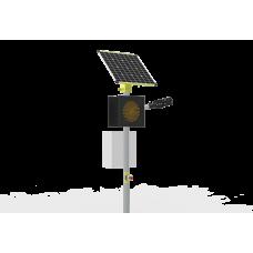 Автономное светодиодное освещение пешеходного перехода в комплекте с односторонним светофором Т.7.2
