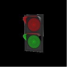 Светофор светодиодный Т.8.1 (200 мм) 12В (плоский корпус)