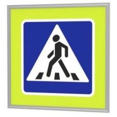 Знак пешеходный переход 220В 36Вт с внутренней подсветкой