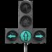 Светофор светодиодный транспортный Т.1.пл.2 300 мм