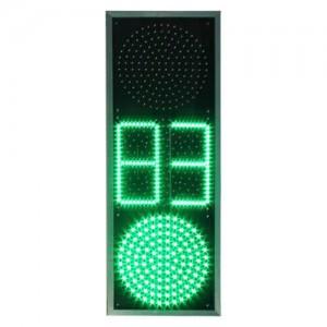 Светофор транспортный светодиодный Т1.2 с ТООВ - 300мм (отсчет от 0 до 99с.)
