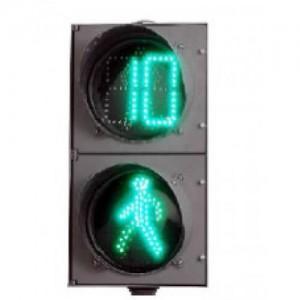 Светодиодный пешеходный светофор П.1.2 с секциями СПК-В-300/П, СПЗ-В-300