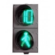 Светодиодный пешеходный светофор П.1.1 с секциями СПК-В-200, СПЗ-В-200