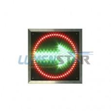 Дополнительная секция стрелка зеленая и запрещающий знак (красный контур) СД-КЛ-300мм