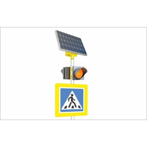 LGM-duo 100/75 Автономный двухсторонний светофор Т.7 на солнечных батареях