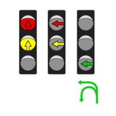 Светофор транспортный светодиодный Т2.2 - 300мм (движение прямо)
